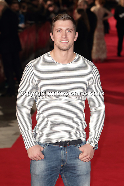 NON EXCLUSIVE PICTURE: MATRIXPICTURES.CO.UK<br /> PLEASE CREDIT ALL USES<br /> <br /> WORLD RIGHTS <br /> <br /> TOWIE star Dan Osborne attending the Pride And Prejudice And Zombies European Film Premiere, at Vue West End cinema in London. <br /> <br /> FEBRUARY 1st 2016<br /> <br /> REF: GBH 16272