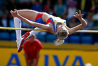 Photo: Richard Lane/Richard Lane Photography..Aviva World Trials & UK Championships athletics. 12/07/2009. Bethan Partridge in the women's high jump.