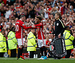 16 year old Angel Gomes of Manchester United makes his first team debut replacing Wayne Rooney of Manchester United during the English Premier League match at the Old Trafford Stadium, Manchester. Picture date: May 21st 2017. Pic credit should read: Simon Bellis/Sportimage
