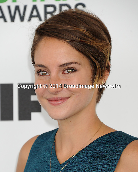 Pictured: Shailene Woodley<br /> Mandatory Credit &copy; Gilbert Flores/Broadimage<br /> 2014 Independent Spirit Awards<br /> <br /> 3/1/14, Santa Monica, California, United States of America<br /> <br /> Broadimage Newswire<br /> Los Angeles 1+  (310) 301-1027<br /> New York      1+  (646) 827-9134<br /> sales@broadimage.com<br /> http://www.broadimage.com