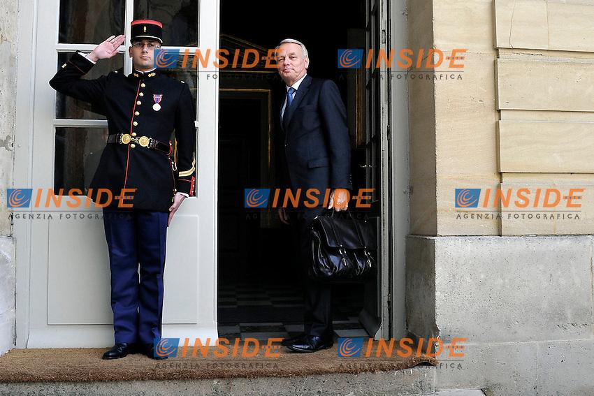 Il Primo Ministro Jean Marc Ayrault.Parigi 17/06/2012 Meeting a Matignon per le elezioni legislative .Foto Insidefoto /Gerard Roussel / Panoramic.ITALY ONLY.