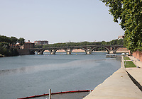 General view of Pont Neuf, Toulouse, Occitanie, France on 22.7.19.