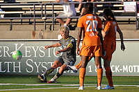 Lori Lindsey (6) of the Philadelphia Independence takes a free kick. The Philadelphia Independence defeated Sky Blue FC 2-1 during a Women's Professional Soccer (WPS) match at John A. Farrell Stadium in West Chester, PA, on June 6, 2010.