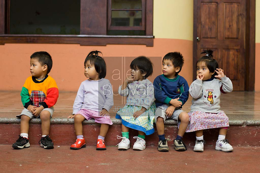 These children at Casa Alegría, a foster home run by the Guatemalan government, are some of those found in 2003 in a Costa Rican house run by an unregistered adoption agency.