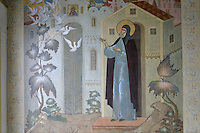 Russia,The Golden Ring,Sergiev Posad,Trinity-St Sergius Monastery,Laura,frescos