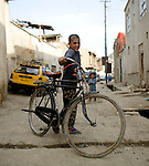 Bicycles are a popular form of transportation in Kabul, Afghanistan.