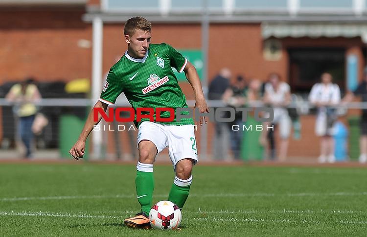 25.08.2013, Platz 11, Bremen, GER, RLN, Werder Bremen II vs Eintracht Braunschweig II, im Bild Levent Aycicek (Bremen #28)<br /> <br /> Foto &copy; nph / Frisch