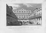 North West view London Horse & Carriage Repository, Gray's Inn Road, engraving 'Metropolitan Improvements, or London in the Nineteenth Century' London, England, UK 1828