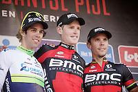 1/ Ben Hermans (BEL/BMC)<br /> 2/ Michael Matthews (AUS/Orica-GreenEDGE)<br /> 3/ Philippe Gilbert (BEL/BMC)<br /> <br /> 55th Brabantse Pijl 2015