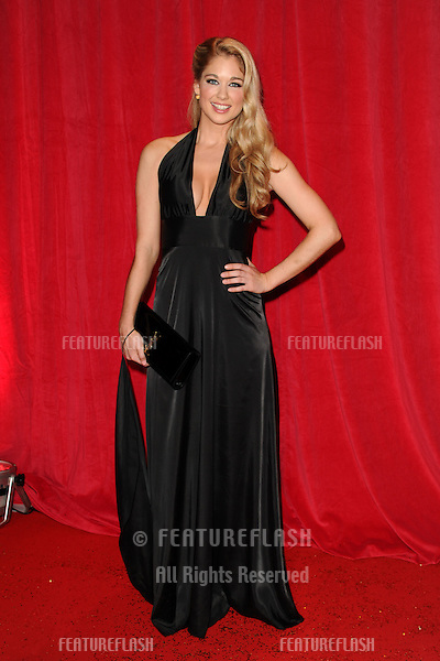 Amanda Clapham arriving for the 2014 British Soap Awards, at the Hackney Empire, London. 24/05/2014 Picture by: Steve Vas / Featureflash