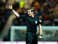 Referee Robert Jones in action<br /> <br /> Photographer Alex Dodd/CameraSport<br /> <br /> The EFL Sky Bet Championship - Preston North End v Leeds United -Tuesday 9th April 2019 - Deepdale Stadium - Preston<br /> <br /> World Copyright &copy; 2019 CameraSport. All rights reserved. 43 Linden Ave. Countesthorpe. Leicester. England. LE8 5PG - Tel: +44 (0) 116 277 4147 - admin@camerasport.com - www.camerasport.com