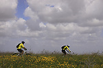 Israel, Southern Coastal Plain, cycling on Tel Gezer