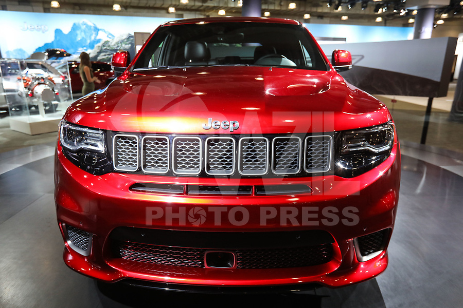 NEW YORK, EUA, 13.04.2017 - AUTOMÓVEL-NEW YORK - Jeep Grand Cherokee Superchargeo é visto durante o New York Internacional Auto Show no Javits Center na cidade de New York nesta quinyta-feira, 13. O evento é aberto ao público do dia 14 à 23 de abril de 2017 . (Foto: Vanessa Carvalho/Brazil Photo Press)