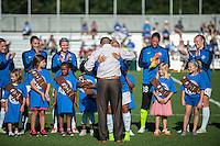 Kansas City, MO - Sunday September 11, 2016: Desiree Scott prior to a regular season National Women's Soccer League (NWSL) match between FC Kansas City and the Chicago Red Stars at Swope Soccer Village.
