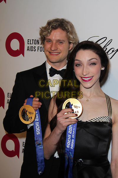 WEST HOLLYWOOD, CA - March 02: Charlie White, Meryl Davis at the 22nd Annual Elton John AIDS Foundation Oscar Viewing Party, Private Location, West Hollywood,  March 02, 2014.  <br /> CAP/MPI/JO<br /> &copy;Janice Ogata/MediaPunch/Capital Pictures
