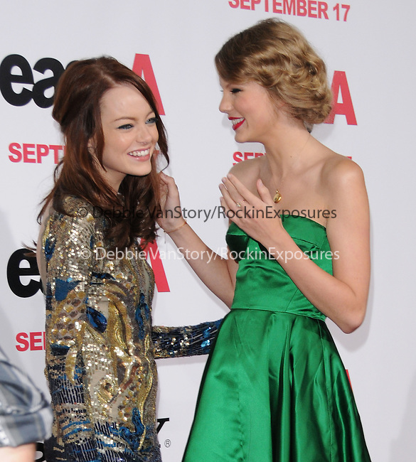 "Emma Stone & Taylor Swift at the Screen Gems' L.A. Premiere of ""Easy A"" held at The Grauman's Chinese Theatre in Hollywood, California on September 13,2010                                                                               © 2010 Hollywood Press Agency"
