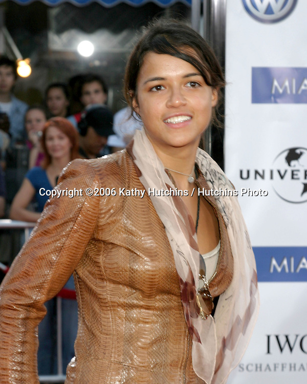 "Michelle Rodriguez.""Miami Vice"" Premiere.Mann's Village Theater.Westwood, CA.July 20, 2006.©2006 Kathy Hutchins / Hutchins Photo...."