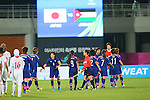 Japan Women's team group (JPN), <br /> SEPTEMBER 18, 2014 - Football / Soccer : <br /> Women's Group Stage <br /> between Japan Women's 12-0 Jordan Women's <br /> at Namdong Asiad Rugby Field <br /> during the 2014 Incheon Asian Games in Incheon, South Korea. <br /> (Photo by YUTAKA/AFLO SPORT)
