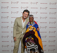 Mario Panzarino and Esther Mahlangu attend the Belvedere (RED) Art Class at Ace Gallery in Los Angeles, CA on September 14, 2016 (Photo by Inae Bloom / Guest of a Guest)