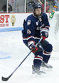 Evan Richardson (UConn - 19) - The Boston University Terriers defeated the visiting University of Connecticut Huskies 4-2 (EN) on Saturday, October 24, 2015, at Agganis Arena in Boston, Massachusetts.