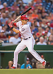 25 August 2016: Washington Nationals outfielder Trea Turner in action against the Baltimore Orioles at Nationals Park in Washington, DC. The Nationals blanked the Orioles 4-0 to salvage one game of their 4-game home and away series. Mandatory Credit: Ed Wolfstein Photo *** RAW (NEF) Image File Available ***