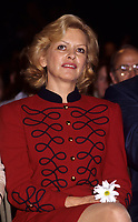Montreal (QC) CANADA, October  1995 - File Photo -<br /> Lizette Lapointe, 2nd wife of <br /> Parti Quebecois (PQ) Leader Jacques Parizeau during the 1995 Referendum campaign.<br /> <br /> Photo by Pierre Roussel / Images Distribution