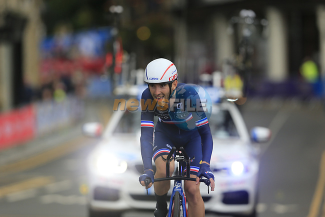 Benjamin Thomas (FRA) in action during the Men Elite Individual Time Trial of the UCI World Championships 2019 running 54km from Northallerton to Harrogate, England. 25th September 2019.<br /> Picture: Eoin Clarke   Cyclefile<br /> <br /> All photos usage must carry mandatory copyright credit (© Cyclefile   Eoin Clarke)