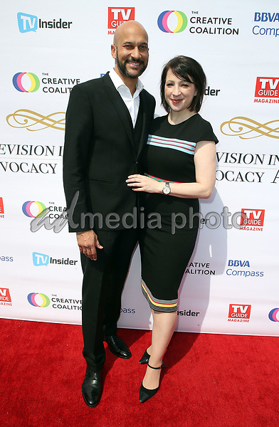 16 September 2017 - Hollywood, California - Keegan-Michael Key, Elisa Pugliese. Television Industry Advocacy Awards held at TAO Hollywood. Photo Credit: F. Sadou/AdMedia