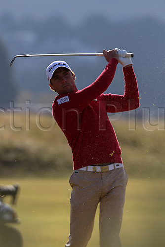 04.10.2015. St Andrews, Scotland. Alfred Dunhill Links Golf final round. Benjamin Hebert of France at the fourth hole