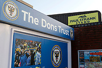 A general view of the Don's Trust hut during the The Leasing.com Trophy match between AFC Wimbledon and Leyton Orient at the Cherry Red Records Stadium, Kingston, England on 8 October 2019. Photo by Carlton Myrie / PRiME Media Images.