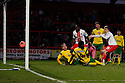 Luke Freeman of Stevenage scores their third goal<br />  - Stevenage v Stourbridge - FA Cup Round 2 - Lamex Stadium, Stevenage - 7th December, 2013<br />  © Kevin Coleman 2013