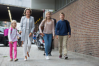 Queen Mathilde of Belgium arrives with her children for 1st day at school - Belgium