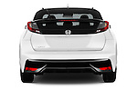 Straight rear view of 2015 Honda Civic Comfort 5 Door Hatchback Rear View  stock images