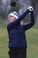 Louisa Carlbom (SWE) on the 1st tee during Round 1 of the Irish Girls U18 Open Stroke Play Championship at Roganstown Golf &amp; Country Club, Dublin, Ireland. 05/04/19 <br /> Picture:  Thos Caffrey / www.golffile.ie