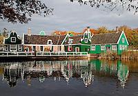 Zaanse huizen in het Openluchtmuseum in Arnhem. (Toestemming van Museum voor redactioneel gebruik van de foto)