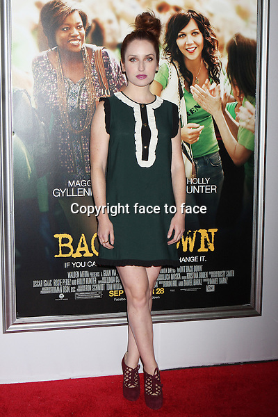 "Zoe Lister-Jones attends the premiere of ""Won't Back Down"" at the Ziegfeld Theatre in New York, 23.09.2012. Credit: Rolf Mueller/face to face"