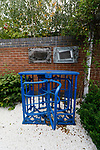 Chesterfield 1 Accrington Stanley 2, 16/09/2017. Proact Stadium, League Two. A turnstile from Chesterfield's former ground, Saltergate, at the Chesterfield Memorial Garden adjacent to the Proact Stadium.  Photo by Paul Thompson.