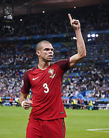 FUSSBALL EURO 2016 FINALE IN PARIS  Portugal - Frankreich     10.07.2016 JUBEL Portugal; Pepe