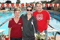 STANFORD, CA - FEBRUARY 13:  Julia Smit of the Stanford Cardinal on Senior Day during Stanford's 167-131 win over California at the Avery Aquatic Center on February 13, 2010 in Stanford, California.