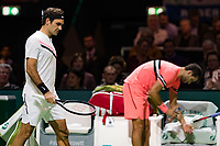 Rotterdam, The Netherlands, 18 Februari, 2018, ABNAMRO World Tennis Tournament, Ahoy, Singles final, Roger Federer (SUI), Grigor Dimitrov (BUL)<br /> <br /> Photo: www.tennisimages.com