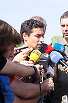 01.06.2012. Arrival of the players in the Spanish football team squad for the European Championship in Poland and Ukraine to the Ciudad del Futbol of Las Rozas, Madrid. In the image Jesus Navas (Alterphotos/Marta Gonzalez)
