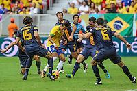 Neymar do Brasil durante o amistoso contra a Austrália, realizado neste sábado no Estádio Mané Garrincha, em Brasília (DF). (Foto: Thiago Ferreira / Brazil Photo Press).