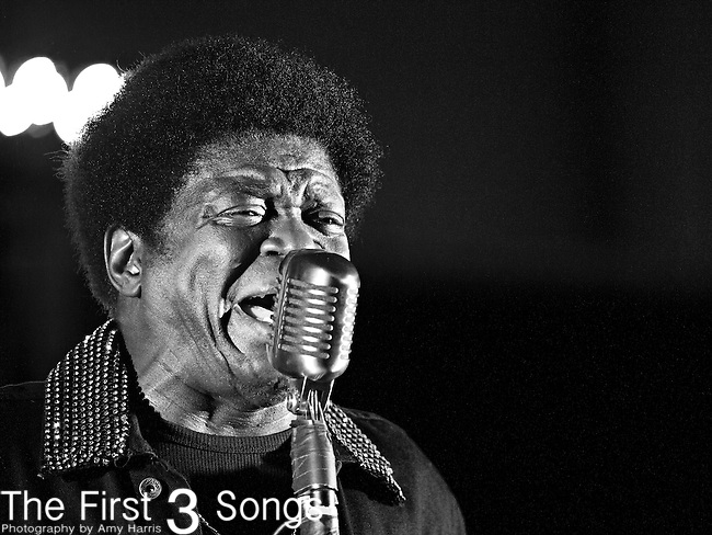 Charles Bradley performs during the The Beale Street Music Festival in Memphis, Tennessee.