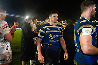 Paul Grant and the rest of the Bath Rugby team leave the field after the final whistle. Premiership Rugby Cup match, between Bath Rugby and Gloucester Rugby on February 3, 2019 at the Recreation Ground in Bath, England. Photo by: Patrick Khachfe / Onside Images