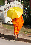 Monk and Umbrella, Siem Reap, Cambodia
