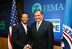 Tom Ridge, (FEMA) and John Bryant, (Operation Hope). Professional Image Photography by John Drew.