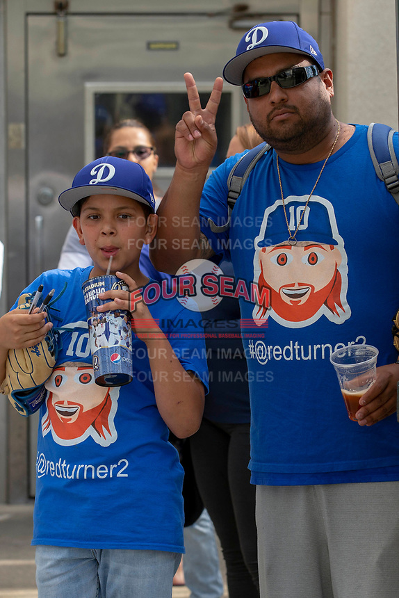 Rancho Cucamonga Quakes fans during the game against the Visalia Rawhide at LoanMart Field on May 13, 2018 in Rancho Cucamonga, California. The Quakes defeated the Rawhide 3-2.  (Donn Parris/Four Seam Images)