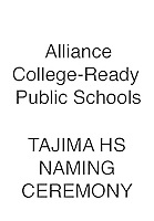 Alliance Tajima Naming Ceremony & Stock