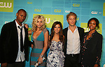 Guiding Light's Sharon Leal in in the new Hellcats with castmates Robbie Jones, Aly Michalka, Ashley Tisdale, Sharon Leal and Matt Barr at The CW Upfront 2010 green carpet arrivals on May 20, 2010 at Madison Square Gardens, New York, New York. (Photo by Sue Coflin/Max Photos)