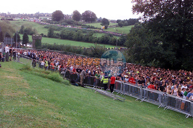 Crowds gather for the opening of the gates for Slane Concert.Picture Fran Caffrey Newsfile